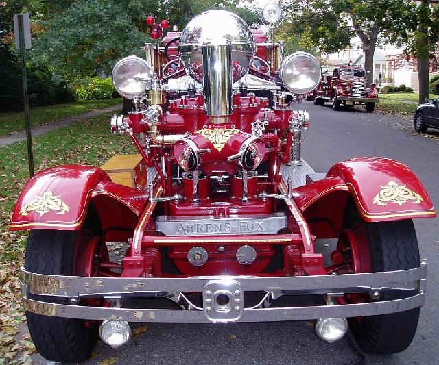 Front of Old Fire Vehicle
