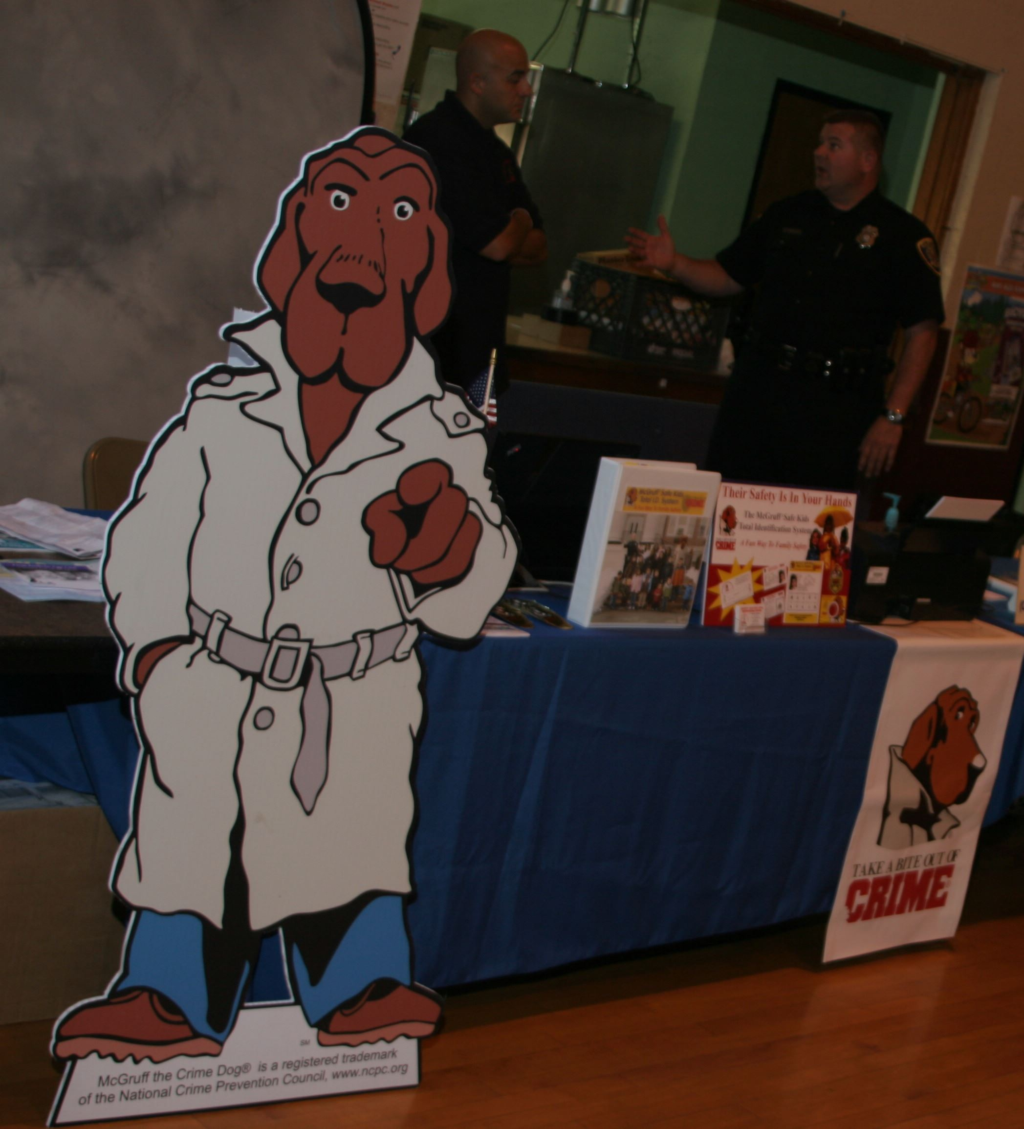 Booth for McGruff the Crime Dog at the Safety Fair