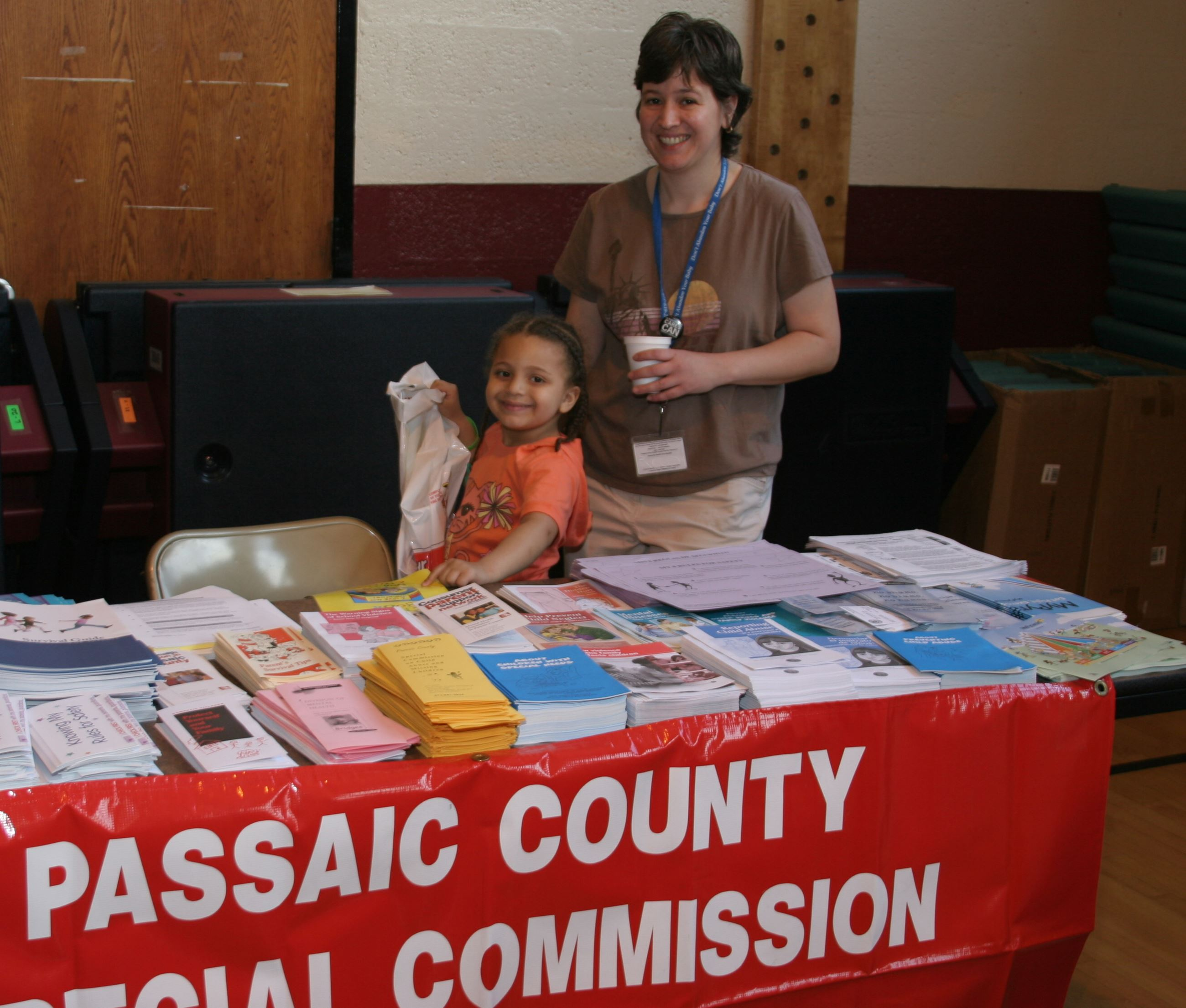 Passaic County table at the Safety Fair